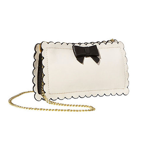 Betsey Johnson's Cream Phone Case Cross Body