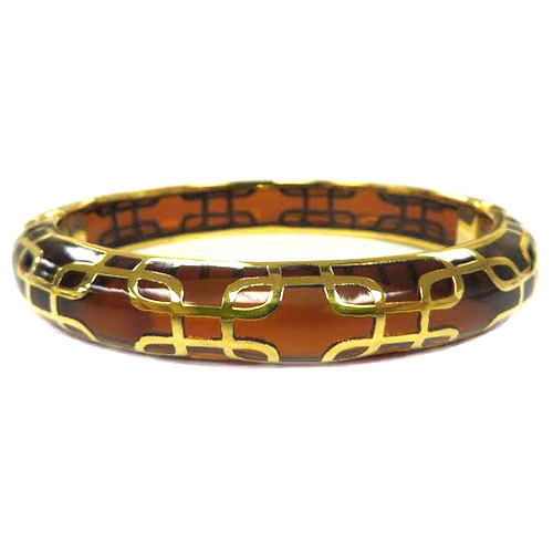 AHC's Tortoise Shell Brown and Gold Sailor Bangle