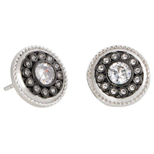 Freida Rothman's Rhodium Shield Post Earring