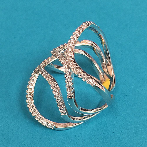 Cubic Zirconia Open Wave Ring 1