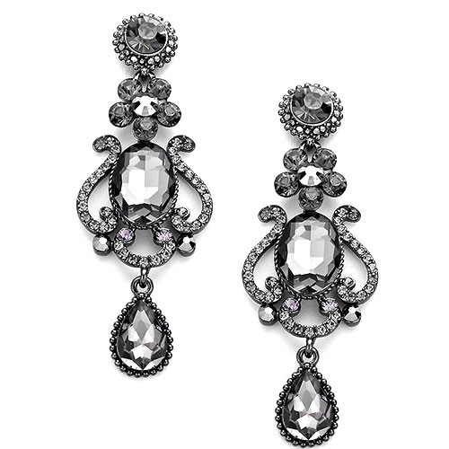 Black Diamond Magnificent Evening Earring