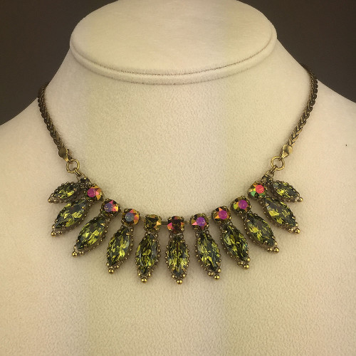 Sorrelli's Olivine and Amber AB Marquis Collar