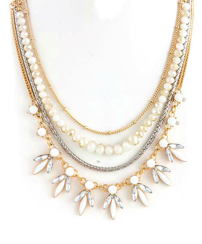 Ivory Layered Linked Necklace