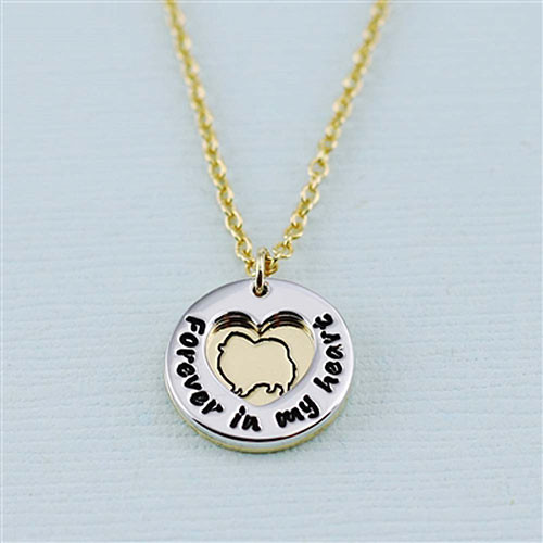 "Pomeranian ""Fur Baby"" Forever in Our Hearts Necklaces"