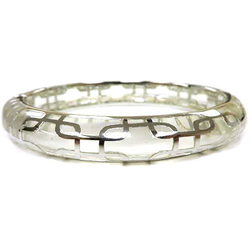 AHC's Clear Resin and Silver Sailor Bangle