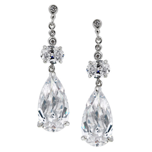 Large Tear Drop Cubic Zirconia With Oval
