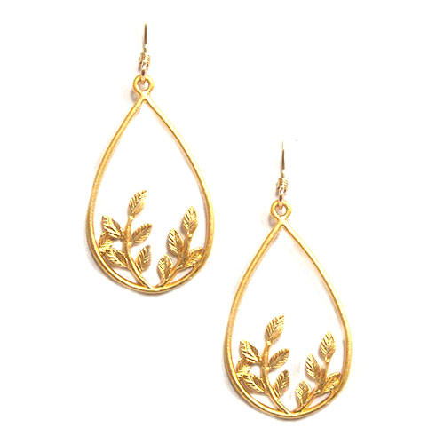 Teardrop Botanical Earring