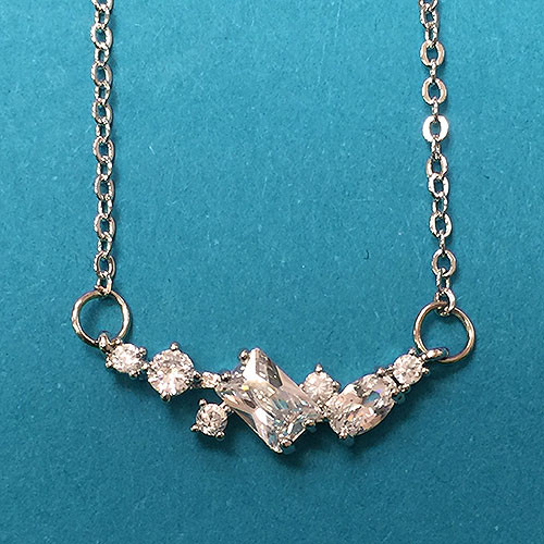 Variety of Shapes CZ Necklace