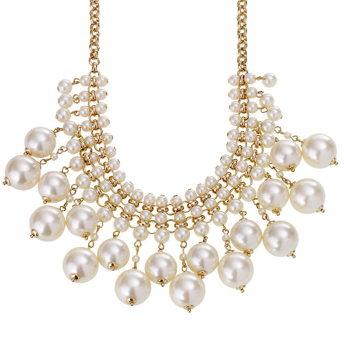 Stacked Pearl Statement Necklace