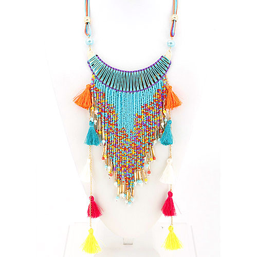 Bohemian Fringe Goddess Necklace