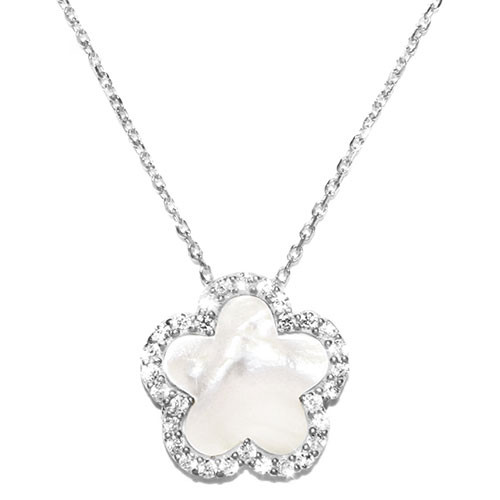 Mother-of-Pearl Clover Necklace