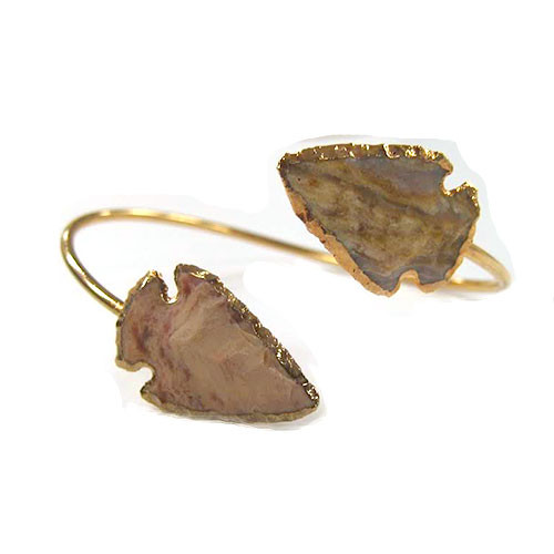 Charlene K's Double Stone Arrowhead Open Bangle