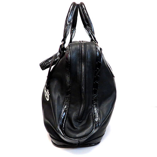 Black Tassel Zipper Satchel