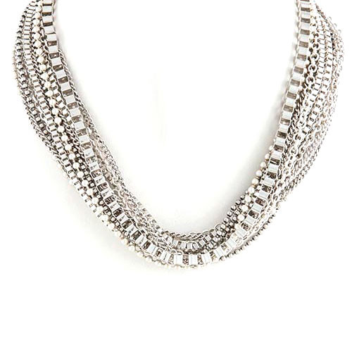 Off The Chain Silver Necklace