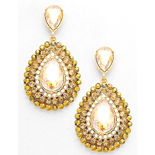 Royal Champagne Topaz Earrings
