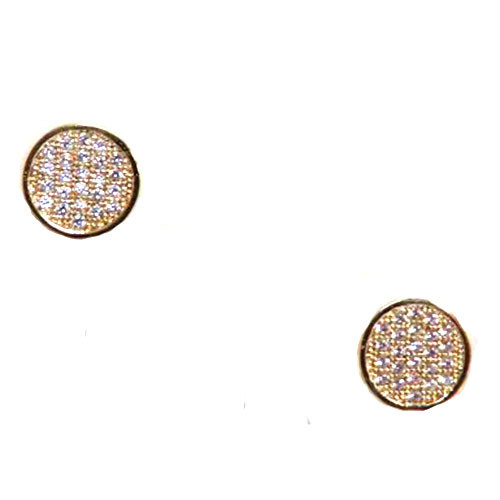 C.Z. Coin Earrings