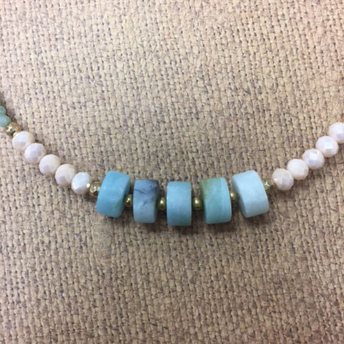 Semi-Precious Beaded Chokers Turquoise