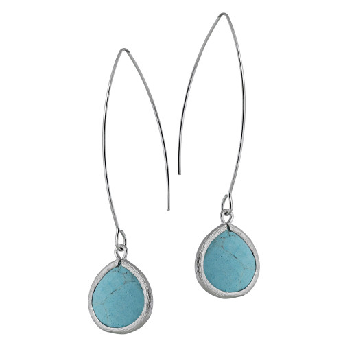 Semi-Precious Turquoise Dangle
