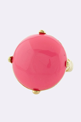 Pale Pink Round Jewel Ring