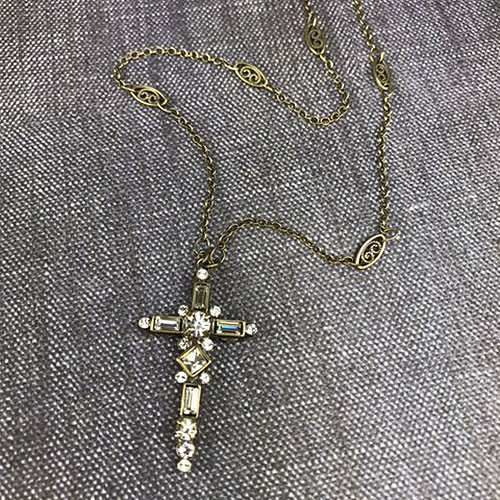Sorrelli's Crystal Cross Pendant Necklace