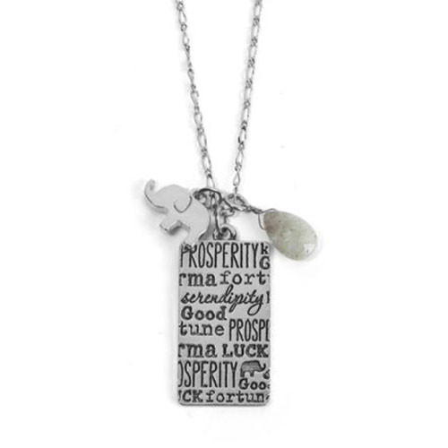 Good Fortune Silver Elephant Necklace