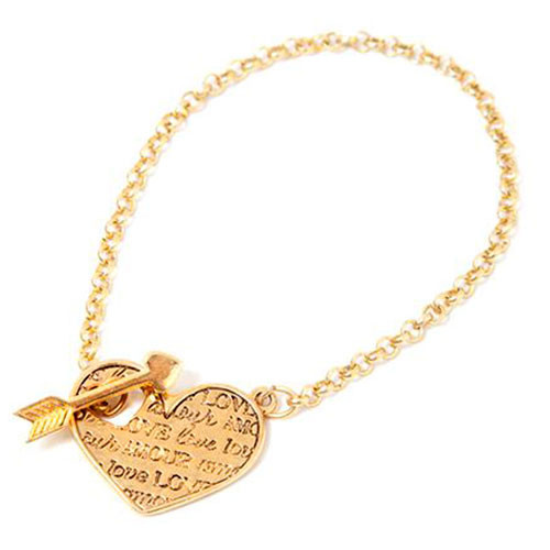 Mi Amour Gold Toggle Bracelet