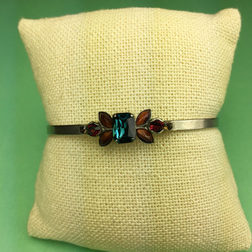 Sorrelli Montana Crystal & Burnt Red Tiger Eye Slim Cuff