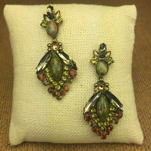 Sorrelli Unakite Semi-Precious & Crystal Earrings