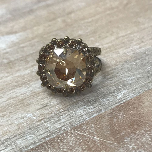 Sorrelli Neutral Crystal & Light Colorado Topaz Ring
