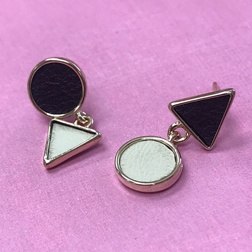 """""""Opposites Attract"""" Leather Earrings"""