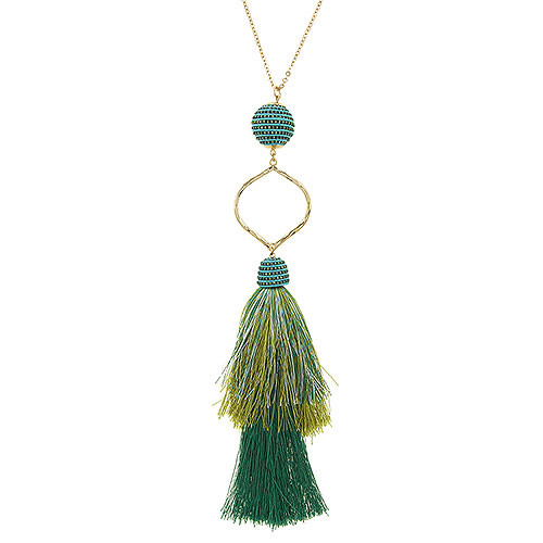 Layered Ombre Tassel Necklace