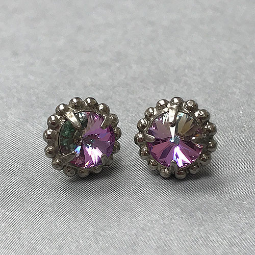 Sorrelli Purple Lotus Stud Earring