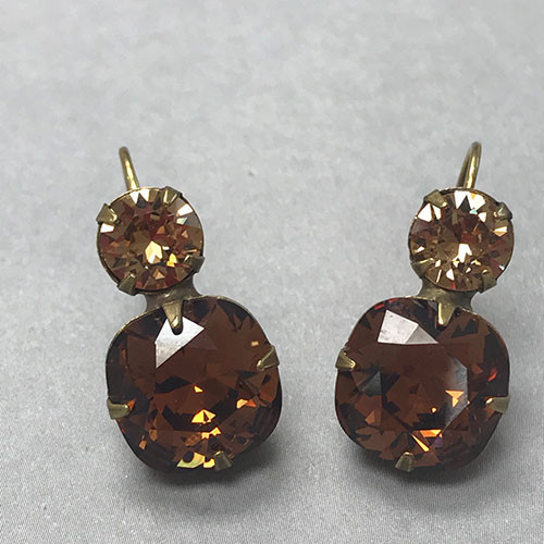 Sorrelli Antique Gold with Topaz Crystals Earring