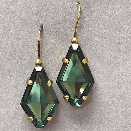 Sorrelli Teal Solitaire Drop Earring