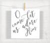 O Come Let Us Adore Him Digital File