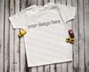 Plain White Short Sleeve Boys T Shirt Mock-Up (#1)