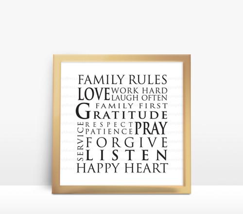 Family Rules Digital File