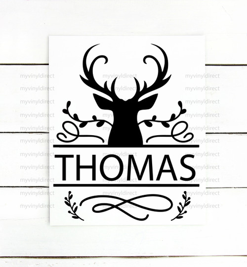Deer Head Split Name Digital Cutting File