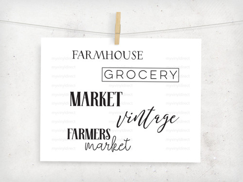 Vintage Farmhouse Digital File Pack