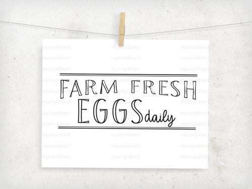 Farm Fresh Eggs Digital Cutting File
