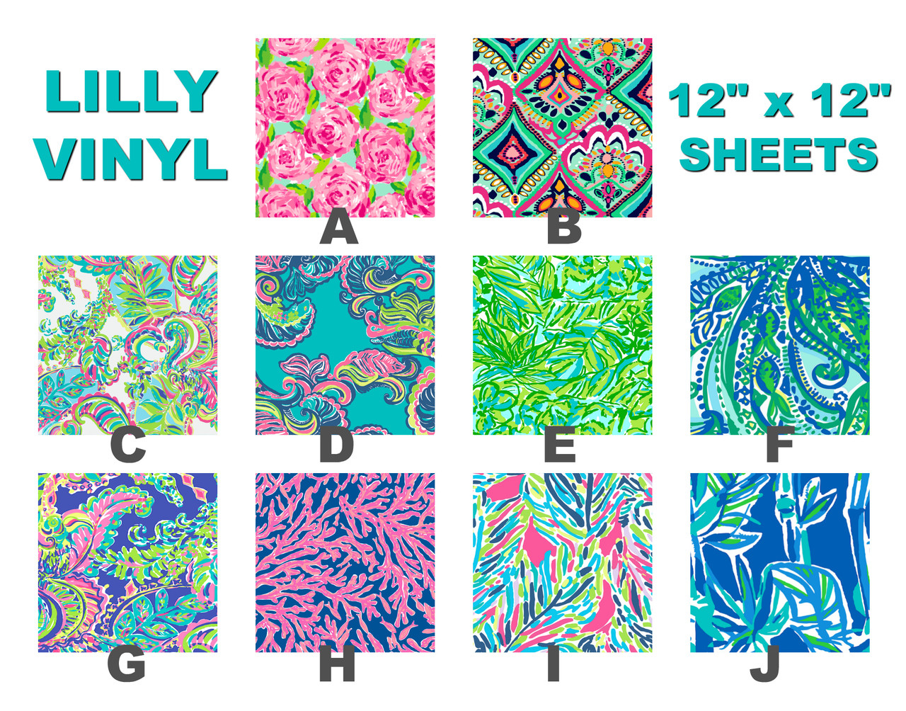 Lilly Pattern Vinyl My Vinyl Direct