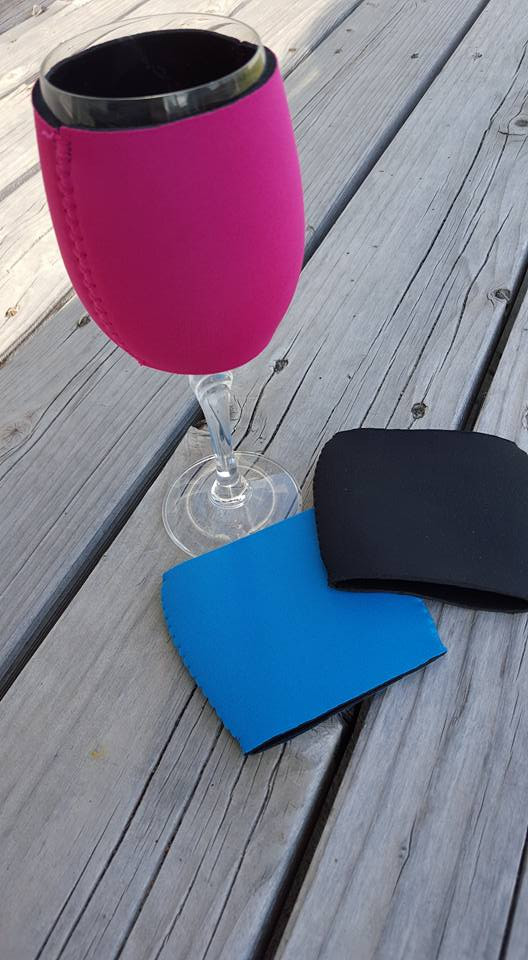 Neoprene Wine Glass Cover My Vinyl Direct