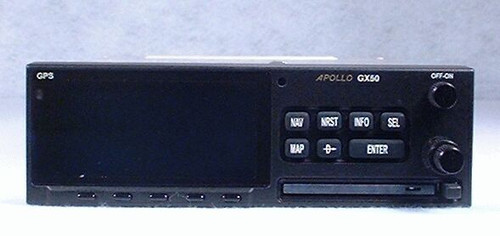 Apollo GX-50 IFR-Approach GPS / Moving Map Closeup