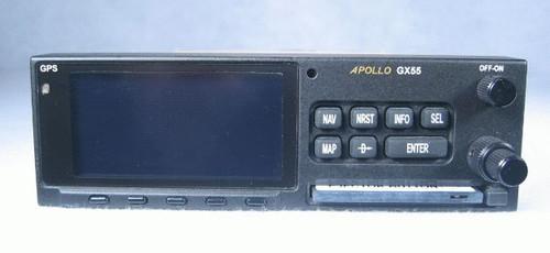 Apollo GX-55 IFR-En Route GPS / Moving Map Closeup