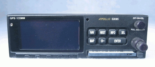 Apollo GX-65 IFR-En Route GPS / Moving Map / COMM Transceiver Closeup