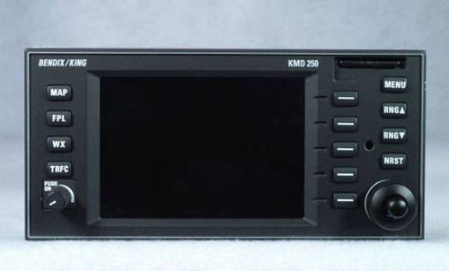 KMD-250 Multi-Function Display / Moving Map (New Surplus) Closeup