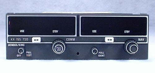 KX-155 NAV/COMM, 28 Volts with Glideslope Closeup