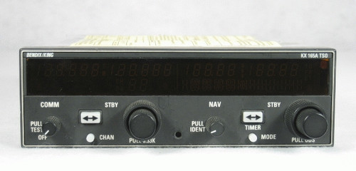 KX-165A NAV/COMM with Glideslope Closeup
