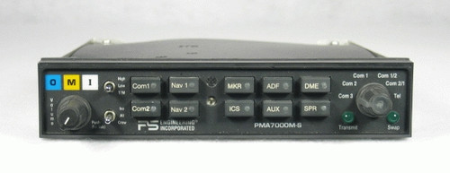 PMA-7000MS Audio Panel, Marker Beacon Receiver, and Stereo Intercom Closeup