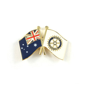 Rotary and Australian Flag Lapel Pin
